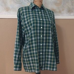 Foxcroft 2XL Button Down Long Sleeve Green Shirt